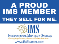 A PROUD IMS MEMBER THEY SELL FOR ME. www.IMSbarter.com